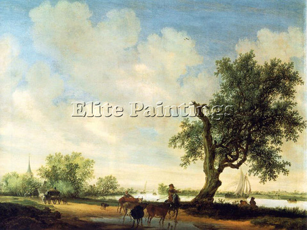 SALOMON VAN RUYSDAEL LANDSCAPE DETAIL ARTIST PAINTING REPRODUCTION HANDMADE OIL