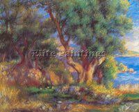 RENOIR LANDSCAPE IN MENTON ARTIST PAINTING REPRODUCTION HANDMADE OIL CANVAS DECO