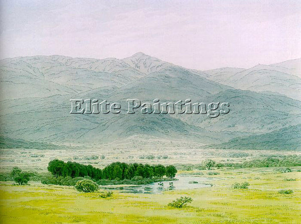 CASPAR DAVID FRIEDRICH LANDSCAPE IN THE RIESENGEBIRGE ARTIST PAINTING HANDMADE