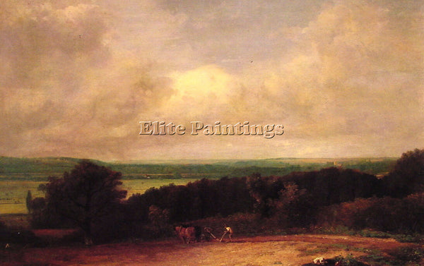 JOHN CONSTABLE LANDSCAPE PLOUGHING SCENE IN SUFFOLK ARTIST PAINTING REPRODUCTION