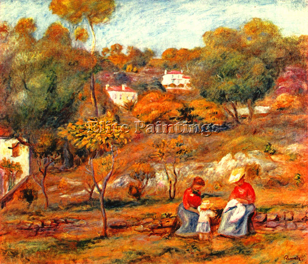 RENOIR LANDSCAPE WITH CAGNES ARTIST PAINTING REPRODUCTION HANDMADE CANVAS REPRO