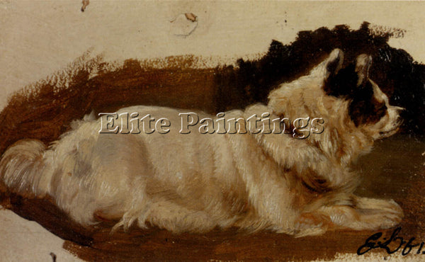 SIR EDWIN HENRY LANDSEER STUDY OF A CHOW ARTIST PAINTING REPRODUCTION HANDMADE