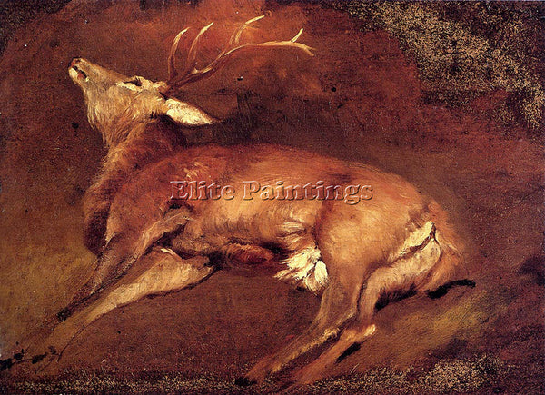 SIR EDWIN HENRY LANDSEER STUDY OF A DEAD STAG ARTIST PAINTING REPRODUCTION OIL