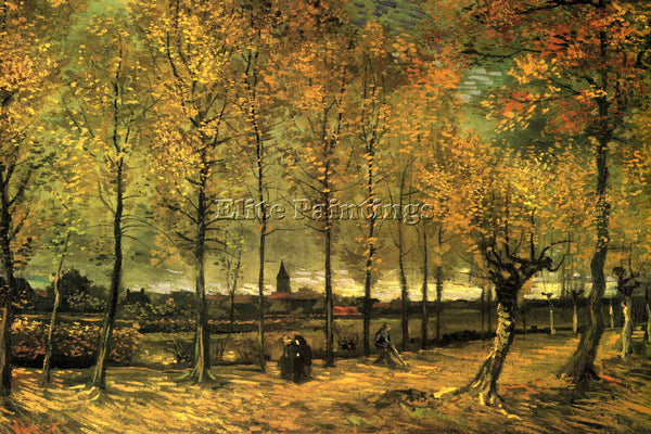 VAN GOGH LANE WITH POPLARS ARTIST PAINTING REPRODUCTION HANDMADE OIL CANVAS DECO