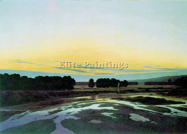 CASPAR DAVID FRIEDRICH LARGENESS TGT ARTIST PAINTING REPRODUCTION HANDMADE OIL
