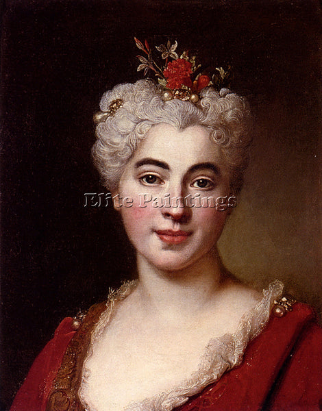 NICOLAS DE LARGILLIERE PORTRAIT OF A ELISABETH ARTIST PAINTING REPRODUCTION OIL
