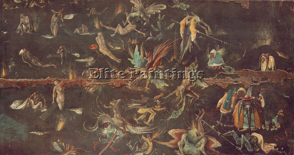 HIERONYMUS BOSCH LAST JUDGEMENT ARTIST PAINTING REPRODUCTION HANDMADE OIL CANVAS
