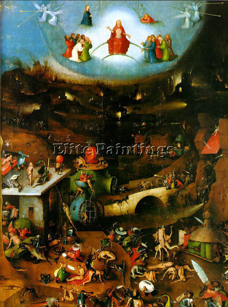HIERONYMUS BOSCH LAST JUDGEMENT CENTRAL PANEL OF THE TRIPTYCH PAINTING HANDMADE