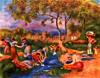 RENOIR LAUNDRESSES ARTIST PAINTING REPRODUCTION HANDMADE CANVAS REPRO WALL DECO