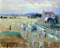MORISOT LAUNDRY DRYING ARTIST PAINTING REPRODUCTION HANDMADE CANVAS REPRO WALL