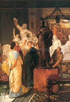 SIR LAWRENCE ALMA-TADEMA A SCULPTURE GALLERY ARTIST PAINTING HANDMADE OIL CANVAS