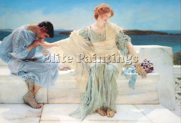 SIR LAWRENCE ALMA-TADEMA ASK ME NO MORE ARTIST PAINTING REPRODUCTION HANDMADE