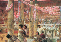 SIR LAWRENCE ALMA-TADEMA CARACALLA AND GETA ARTIST PAINTING HANDMADE OIL CANVAS