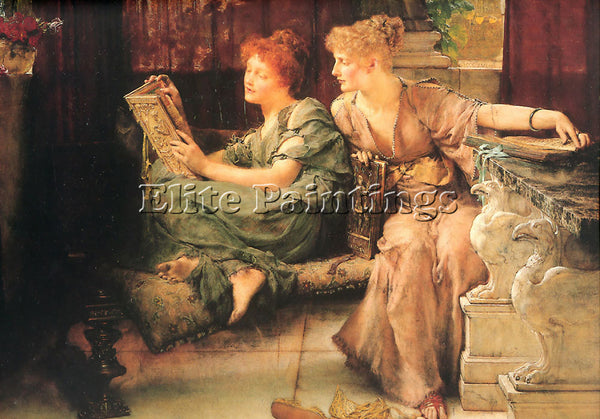 SIR LAWRENCE ALMA-TADEMA COMPARISONS ARTIST PAINTING REPRODUCTION HANDMADE OIL