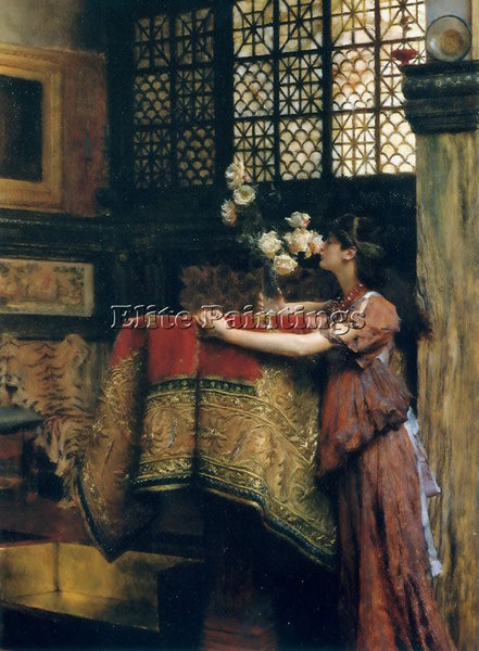 SIR LAWRENCE ALMA-TADEMA IN MY STUDIO ARTIST PAINTING REPRODUCTION HANDMADE OIL