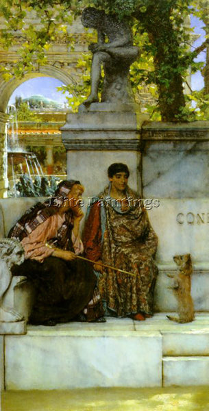 SIR LAWRENCE ALMA-TADEMA IN THE TIME OF CONSTANTINE ARTIST PAINTING REPRODUCTION