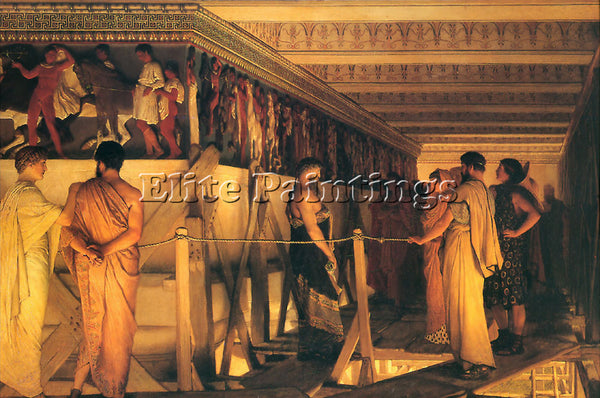SIR LAWRENCE ALMA-TADEMA PHIDIAS SHOWING THE FRIEZE OF THE PARTHENON OIL CANVAS