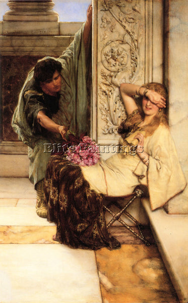 SIR LAWRENCE ALMA-TADEMA SHY ARTIST PAINTING REPRODUCTION HANDMADE CANVAS REPRO