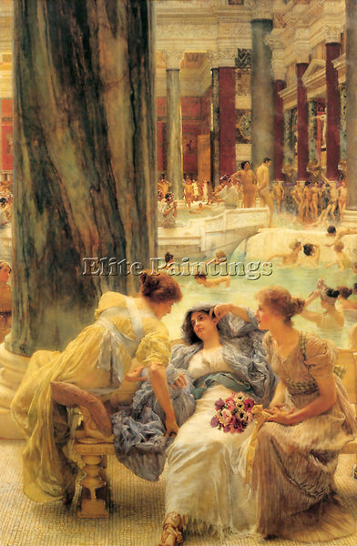 SIR LAWRENCE ALMA-TADEMA THE BATHS OF CARACALLA ARTIST PAINTING REPRODUCTION OIL