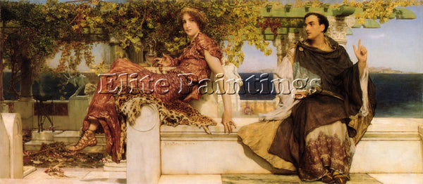 SIR LAWRENCE ALMA-TADEMA THE CONVERSION OF PAULA BY SAINT JEROME ARTIST PAINTING