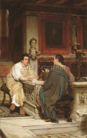 SIR LAWRENCE ALMA-TADEMA THE DISCOURSE ARTIST PAINTING REPRODUCTION HANDMADE OIL