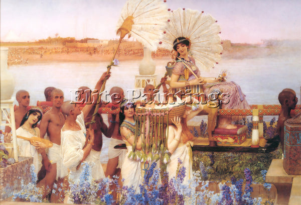 SIR LAWRENCE ALMA-TADEMA THE FINDING OF MOSES OR PRINT ART DECO 2 ARTIST CANVAS