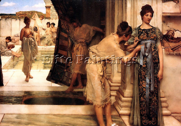 SIR LAWRENCE ALMA-TADEMA THE FRIGIDARIUM ARTIST PAINTING REPRODUCTION HANDMADE