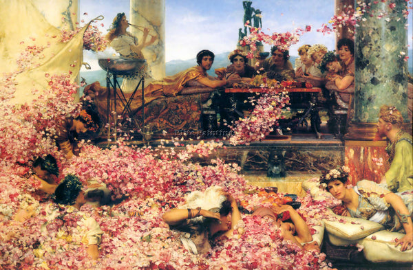 SIR LAWRENCE ALMA-TADEMA THE ROSES OF HELIOGABALUS ARTIST PAINTING REPRODUCTION