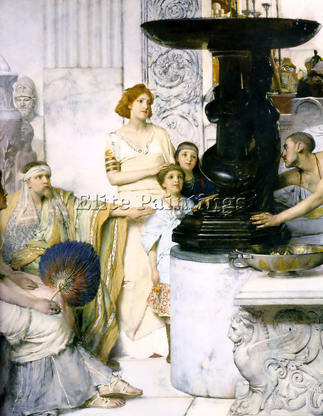 SIR LAWRENCE ALMA-TADEMA THE SCULPTURE GALLERY DETAIL ARTIST PAINTING HANDMADE