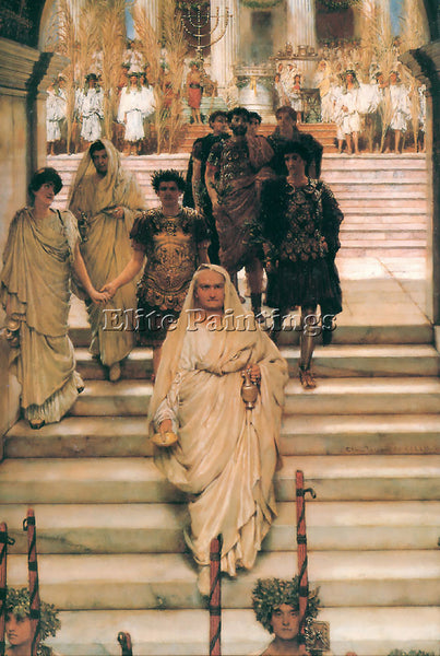 SIR LAWRENCE ALMA-TADEMA THE TRIUMPH OF TITUS ARTIST PAINTING REPRODUCTION OIL