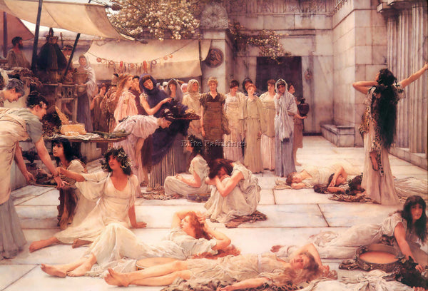 SIR LAWRENCE ALMA-TADEMA THE WOMEN OF AMPHISSA OR PRINT ART DECO 2 REPRODUCTION