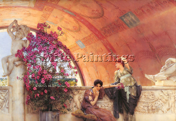 SIR LAWRENCE ALMA-TADEMA UNCONSCIOUS RIVALS ARTIST PAINTING HANDMADE OIL CANVAS