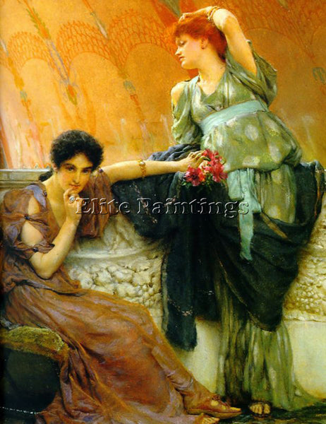 SIR LAWRENCE ALMA-TADEMA UNCONSCIOUS RIVALS DETAIL ARTIST PAINTING REPRODUCTION