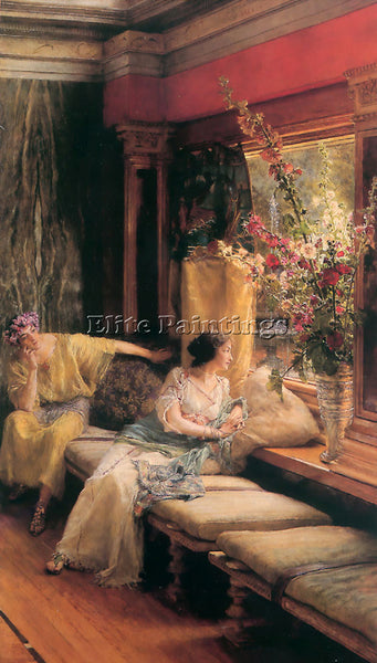 SIR LAWRENCE ALMA-TADEMA VAIN COURTSHIP ARTIST PAINTING REPRODUCTION HANDMADE