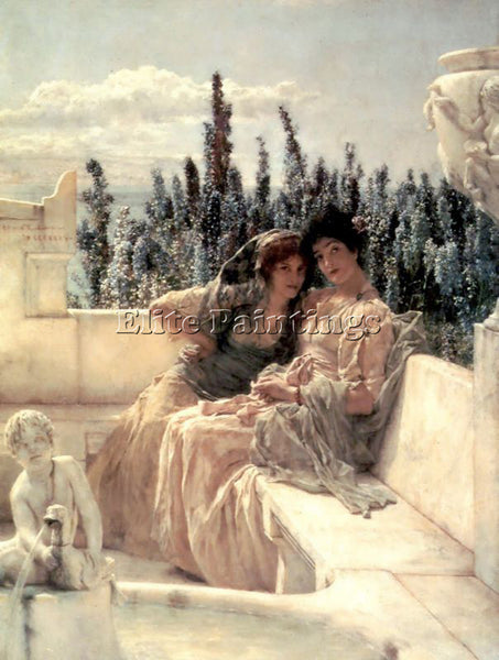 SIR LAWRENCE ALMA-TADEMA WHISPERING NOON ARTIST PAINTING REPRODUCTION HANDMADE