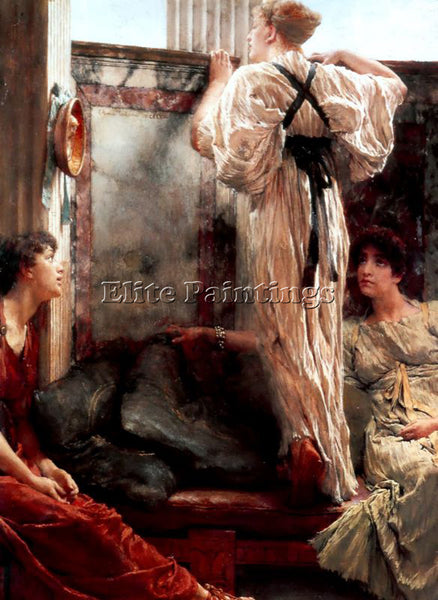 SIR LAWRENCE ALMA-TADEMA WHO IS IT ARTIST PAINTING REPRODUCTION HANDMADE OIL ART