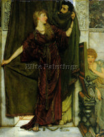 SIR LAWRENCE ALMA-TADEMA NOT AT HOME ARTIST PAINTING REPRODUCTION HANDMADE OIL