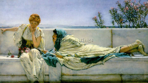 SIR LAWRENCE ALMA-TADEMA PLEADING ARTIST PAINTING REPRODUCTION HANDMADE OIL DECO