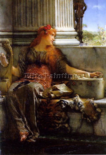 SIR LAWRENCE ALMA-TADEMA POETRY ARTIST PAINTING REPRODUCTION HANDMADE OIL CANVAS
