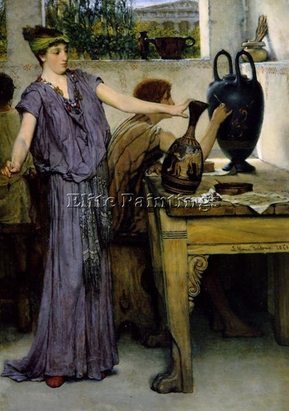 SIR LAWRENCE ALMA-TADEMA POTTERY PAINTING ARTIST PAINTING REPRODUCTION HANDMADE