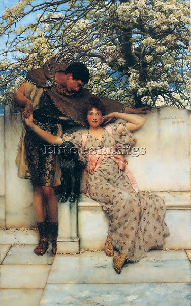 SIR LAWRENCE ALMA-TADEMA PROMISE OF SPRING ARTIST PAINTING REPRODUCTION HANDMADE