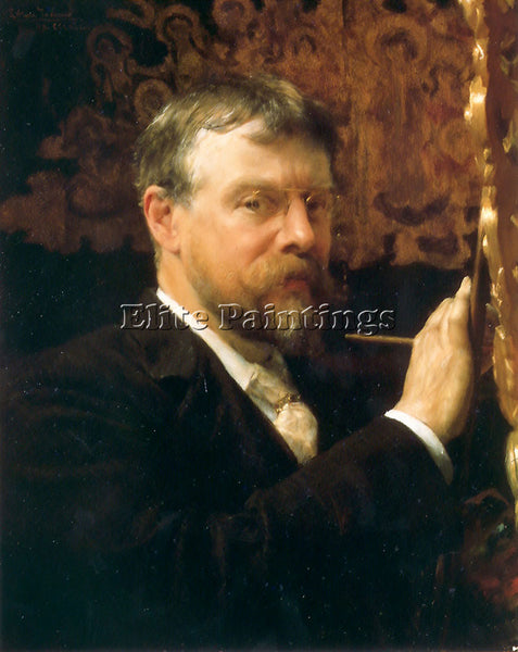 SIR LAWRENCE ALMA-TADEMA SELF PORTRAIT ARTIST PAINTING REPRODUCTION HANDMADE OIL