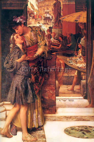 SIR LAWRENCE ALMA-TADEMA THE PARTING KISS ARTIST PAINTING REPRODUCTION HANDMADE