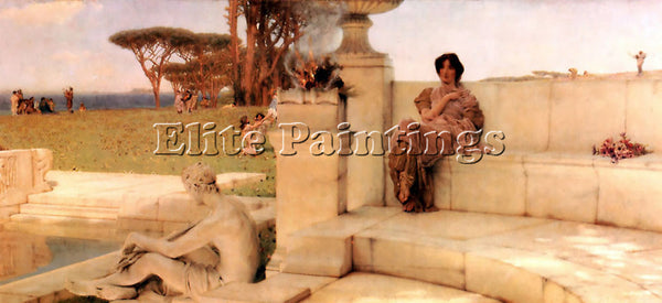 SIR LAWRENCE ALMA-TADEMA THE VOICE OF SPRING ARTIST PAINTING HANDMADE OIL CANVAS
