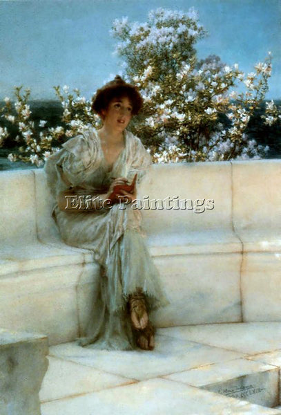 SIR LAWRENCE ALMA-TADEMA THE YEARS AT THE SPRING ARTIST PAINTING HANDMADE CANVAS