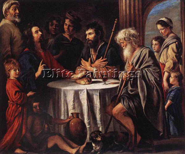 LOUIS LE NAIN THE SUPPER AT EMMAUS ARTIST PAINTING REPRODUCTION HANDMADE OIL ART
