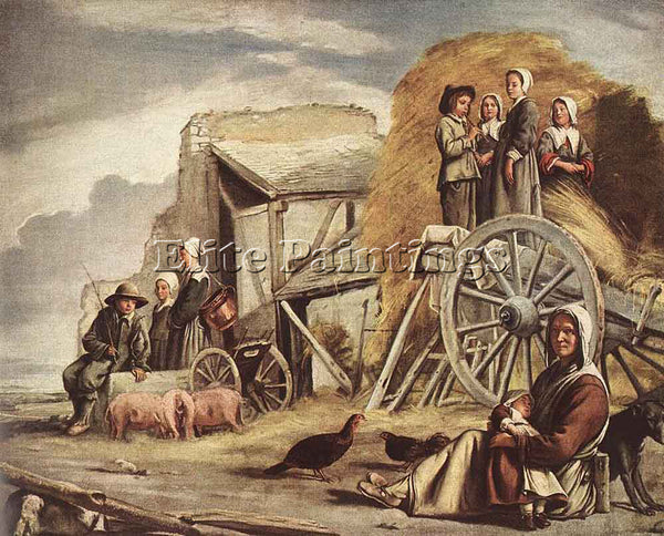 LOUIS LE NAIN THE CART OR RETURN FROM HAYMAKING ARTIST PAINTING REPRODUCTION OIL