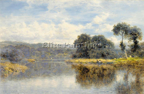 BENJAMIN WILLIAMS LEADER A FINE DAY ON THE THAMES ARTIST PAINTING REPRODUCTION