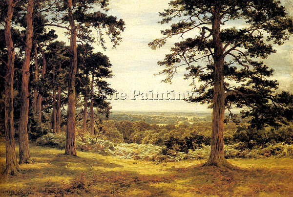 BENJAMIN WILLIAMS LEADER A PEEP THROUGH THE PINES ARTIST PAINTING REPRODUCTION