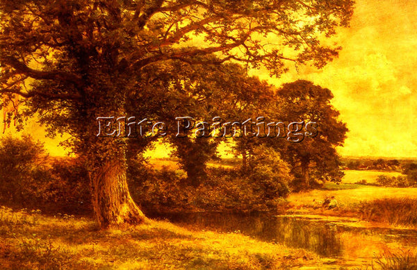BENJAMIN WILLIAMS LEADER A WOODLAND POOL ARTIST PAINTING REPRODUCTION HANDMADE